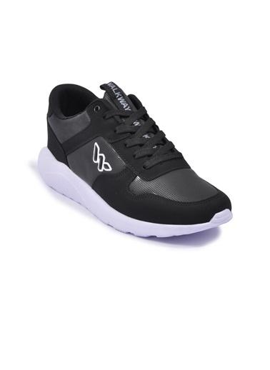 Walkway Prt-4039 Siyah-Beyaz Erkek Spor Ayakkabı Siyah